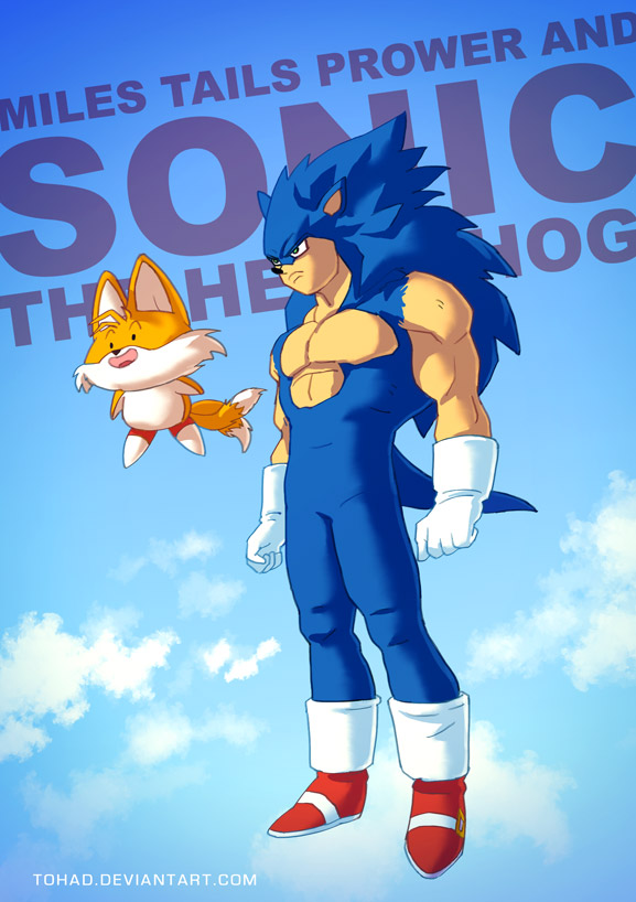 Sonic the hedgehog BADASS by Tohad