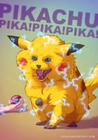 Pikachu BADASS by Tohad