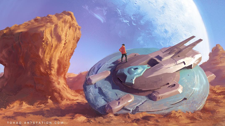 broken space ship - photo #13