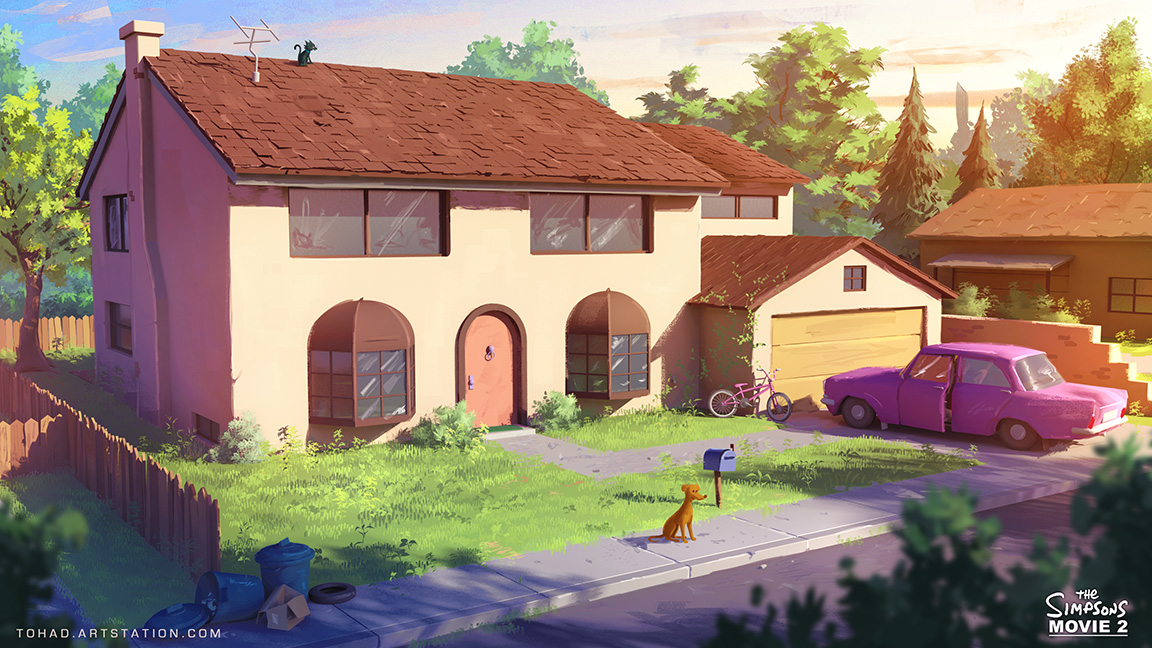 The simpsons movie 2 environment design by tohad on deviantart for 742 evergreen terrace real life
