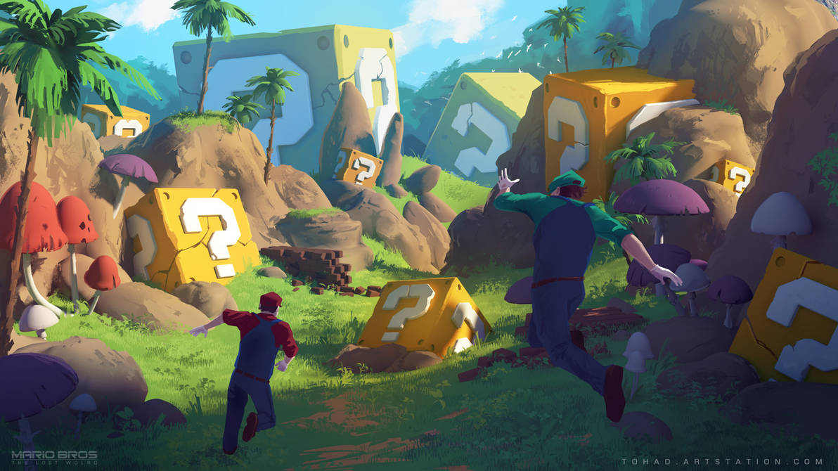 Mario Bros : The Lost World concept art by Tohad