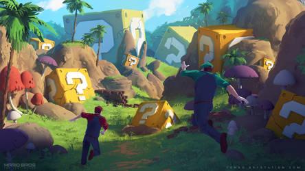Mario Bros : The Lost World concept art