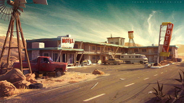 Dark Days : motel environment concept