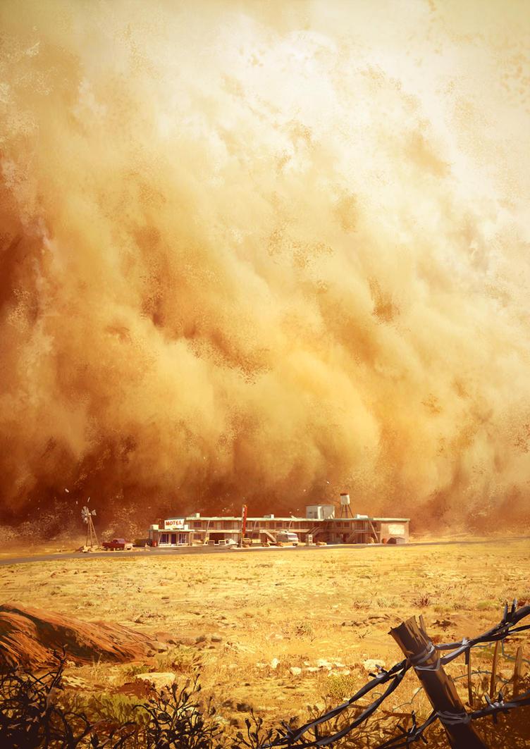 Dark Days : sand storm by Tohad