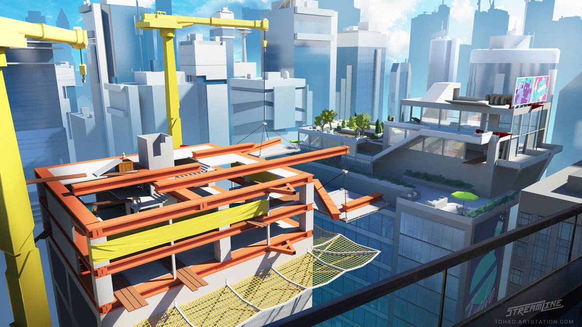 Streamline concept-art : high rise by Tohad