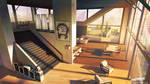 Streamline concept-art : high rise lounge