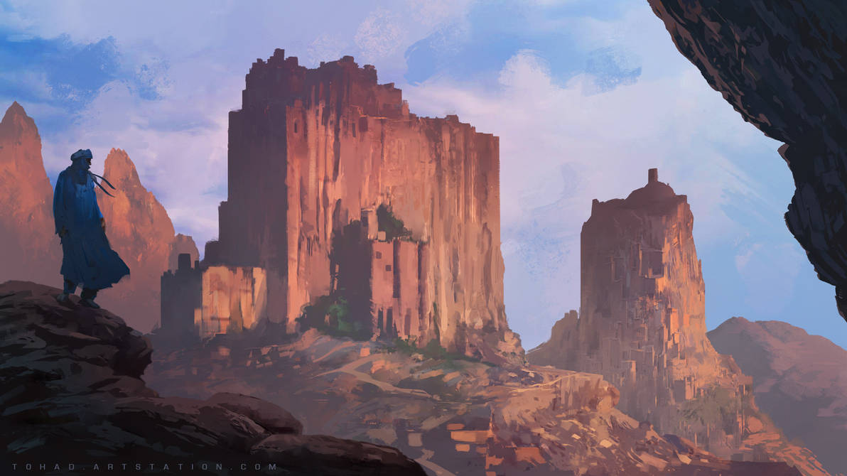 Pillars of the sun by Tohad