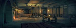 Netflix Castlevania Background : Tavern