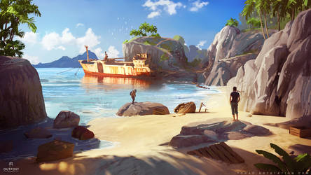 SOS concept art : Beach by Tohad