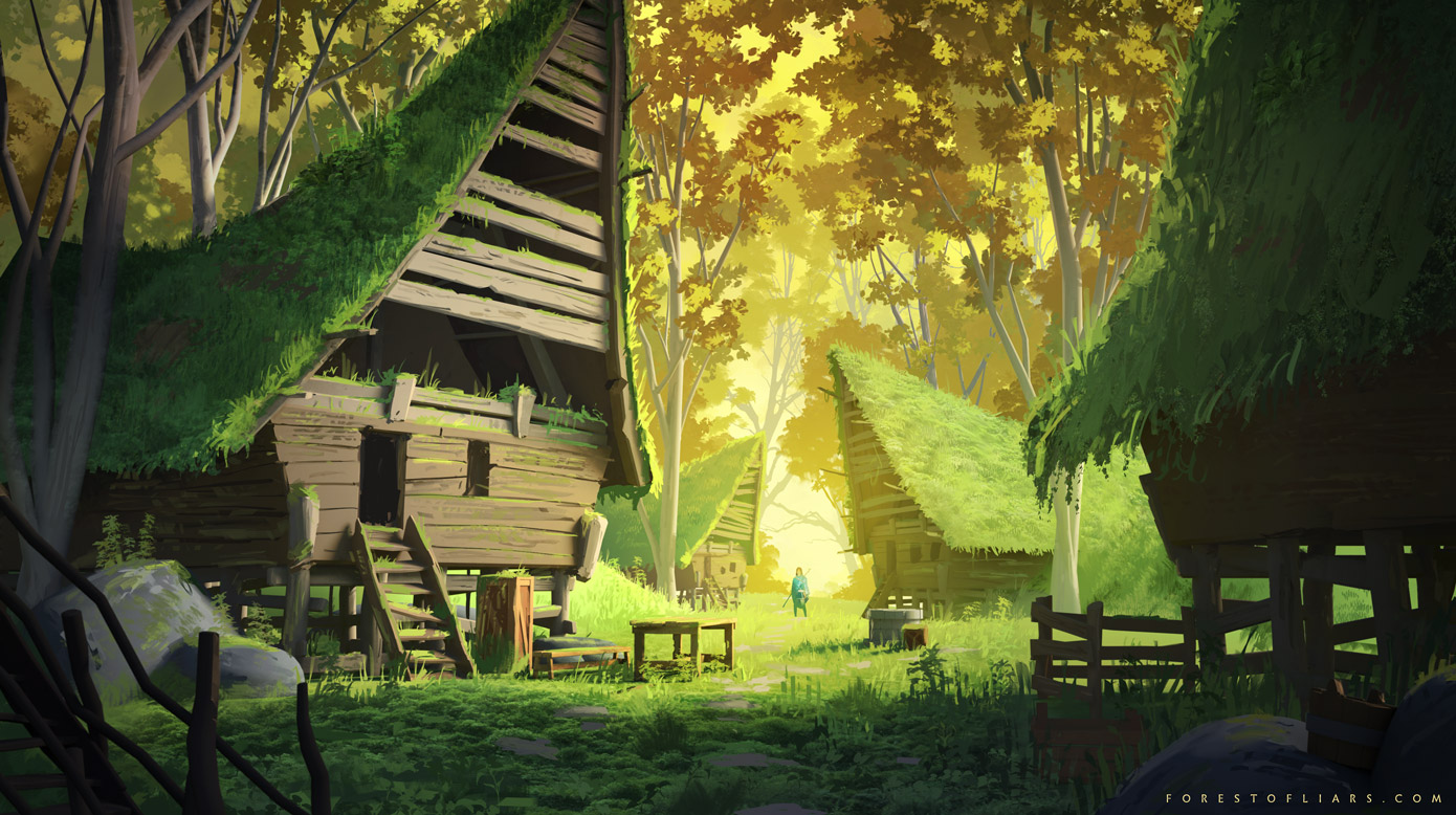 Forest of Liars : abandoned village