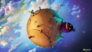 Yoshi's Island Remastered concept art : the moon