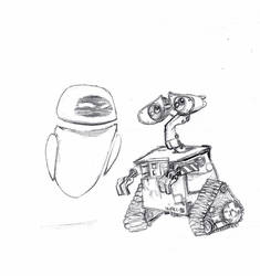 Wall-E And Eva by autumnsprout