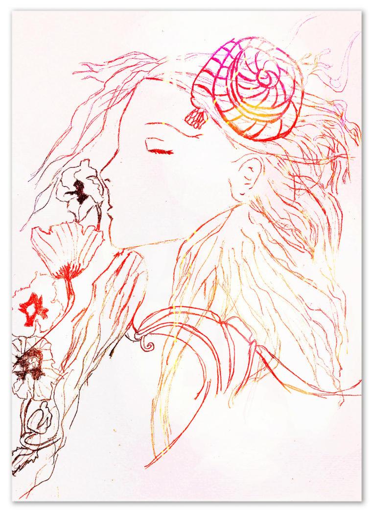 Sleeping Goddess by HotaruKara