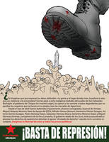 Basta de represion by Masklin8
