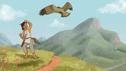 Ged Calling the Hawk by Masklin8
