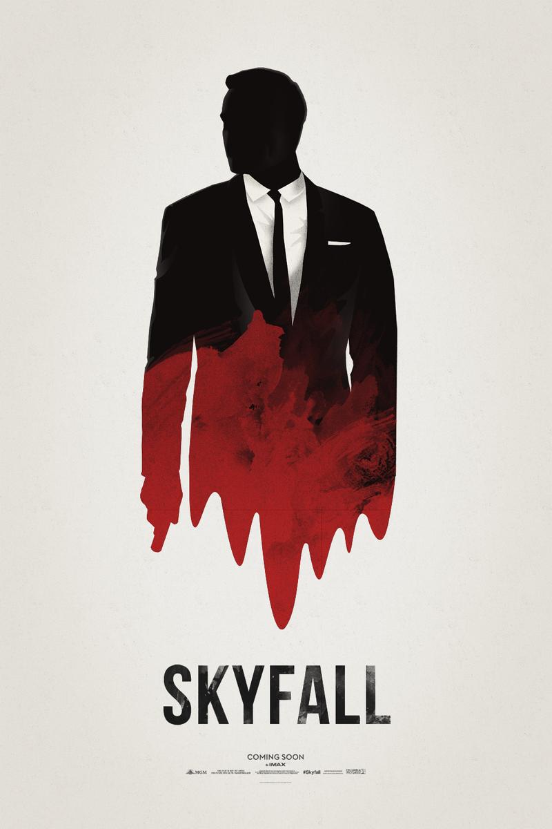 Minimalist movie poster - Skyfall