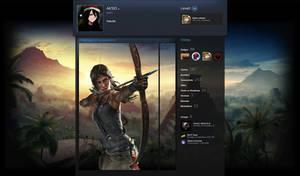 Steam Artwork Design - Lara Croft