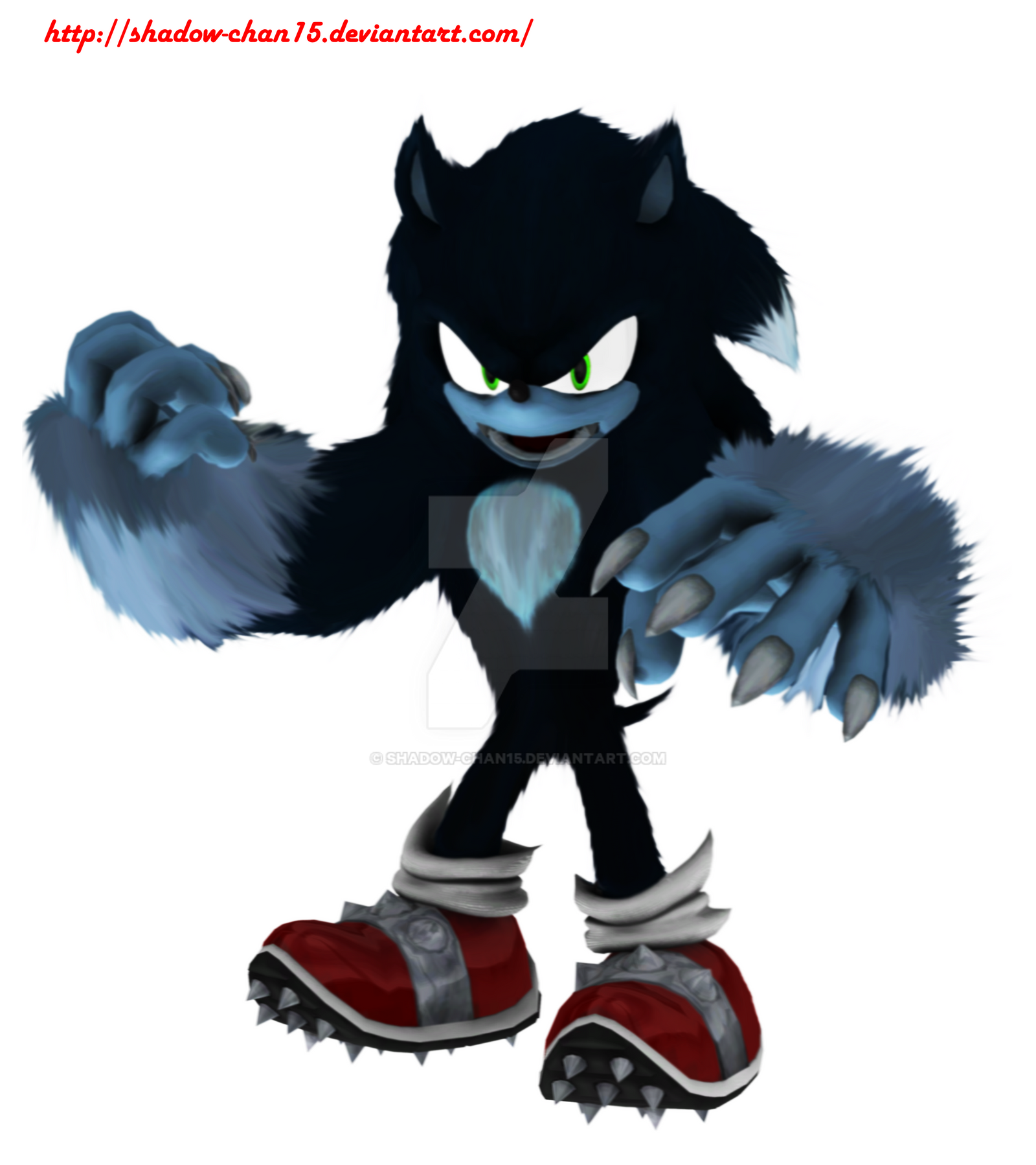 how to draw shadow the werehog