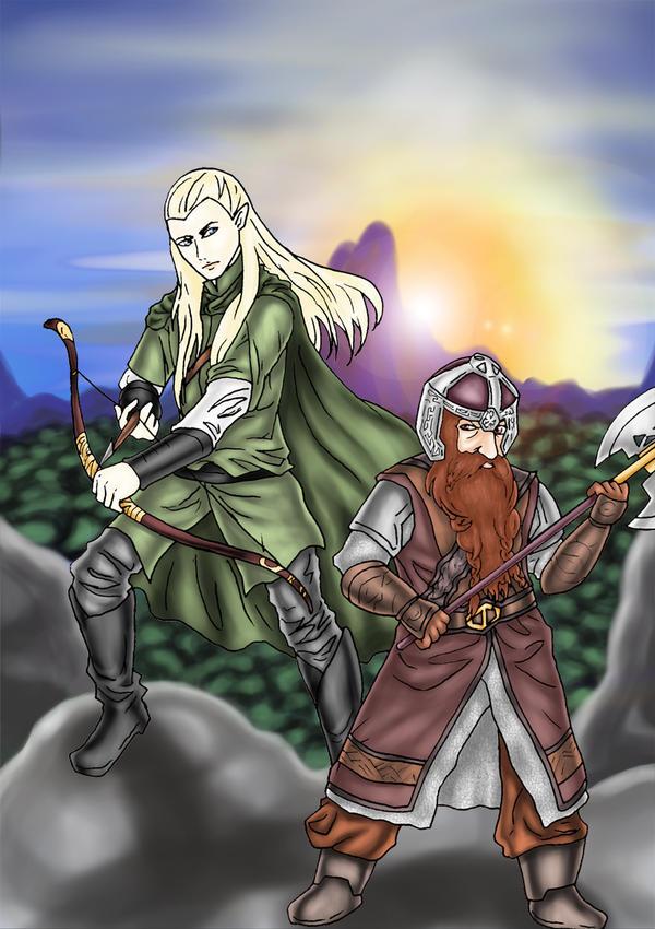 Legolas and Gimli by sakohju on DeviantArt