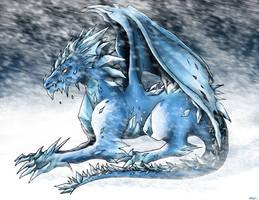 Ice dragon by sakohju