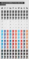 Free Flat Color Social Media Icons