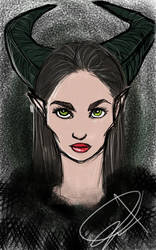Malificent by Firepowerbaby