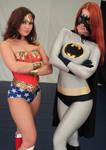 Bat-Alisa and Wonder-Stephy by sleeperkid