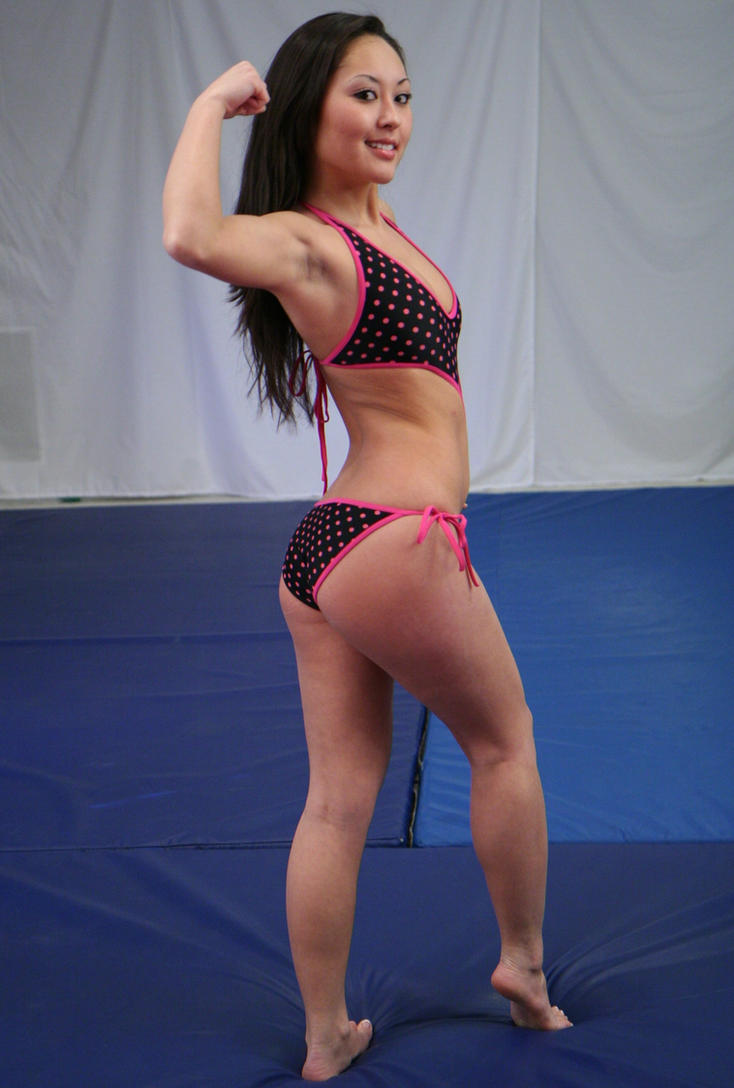 Sumiko wrestles with wedgies 3