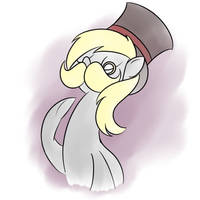 Fancy Moustache Derpy by Perrydotto