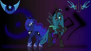 Luna and Chrysalis Wallpaper