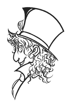 Mad Hatter Profile Lineart