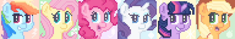 Pixel Mane Six by Perrydotto