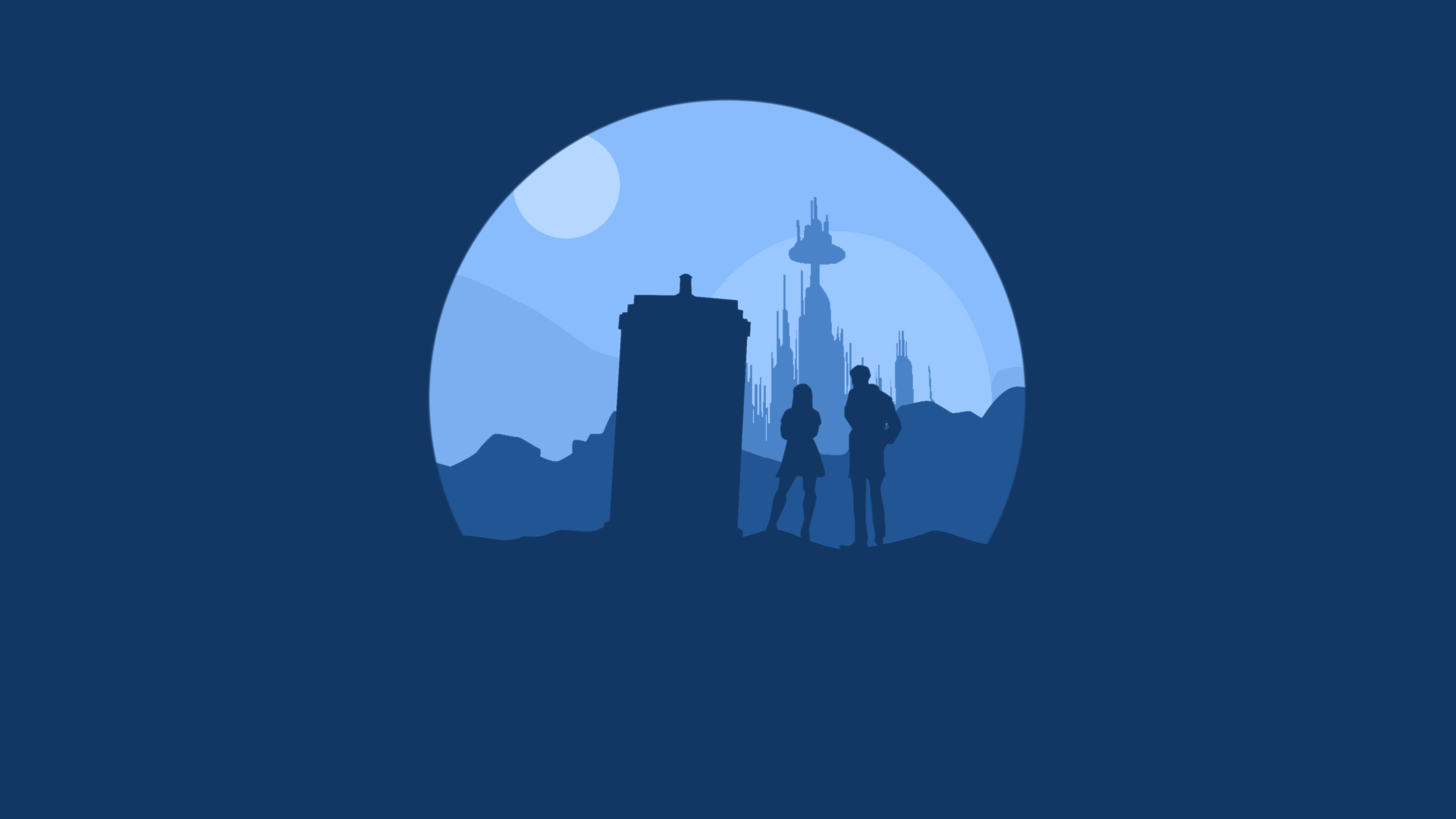 Minimalist doctor who by rubixcraft on deviantart for A minimalist