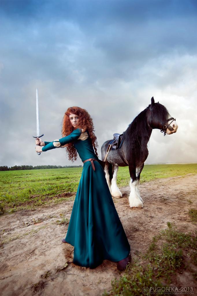 Brave - Merida and Angus_5