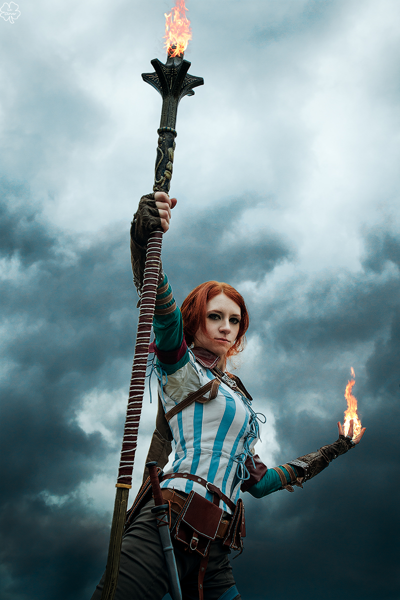 The Witcher 2 cosplay - Triss Merigold_2 by GreatQueenLina