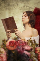 Young woman reading by GreatQueenLina