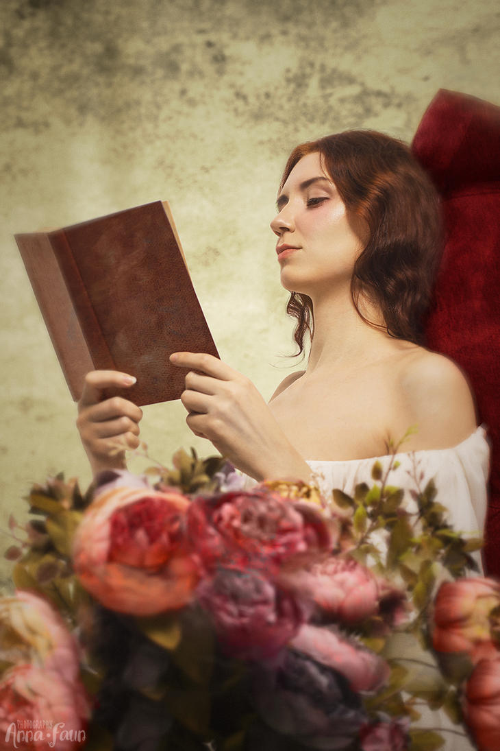 young woman reading by greatqueenlina on deviantart