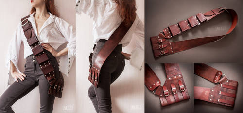 Pirate leather baldric by GreatQueenLina