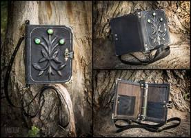 Genuine leather spellbook for LARP