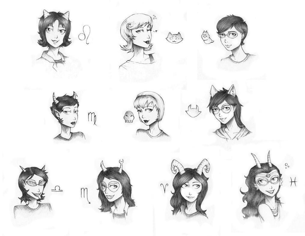 The Girls of Homestuck by The-DarkBunny