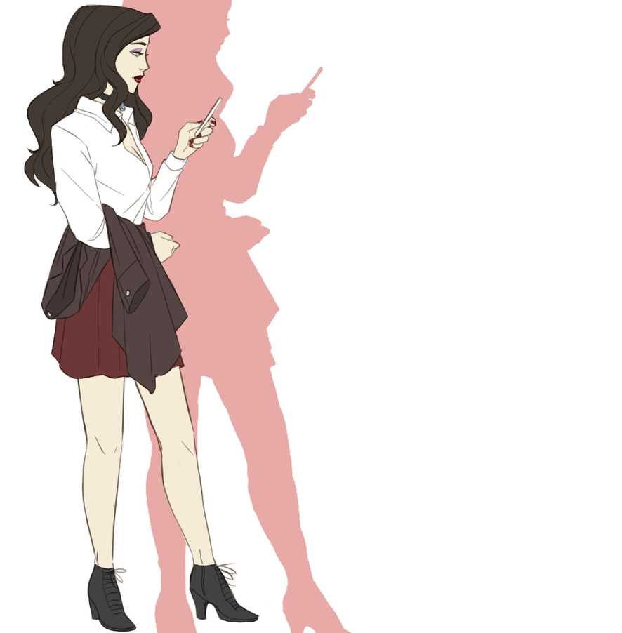 Modern AU Asami by The-DarkBunny