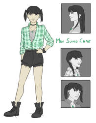 OC: Min by The-DarkBunny