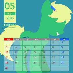 OC Calendar 2015 : May - Decibelle by LimeDreaming