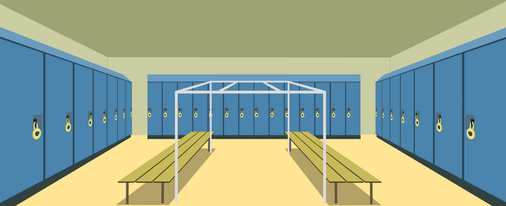 The Oatmeal Gym Locker Room