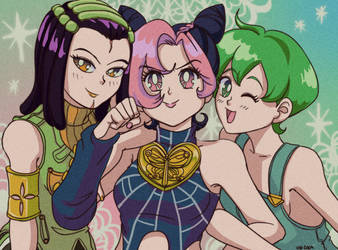 GreenDolphin Girls by KidCoca