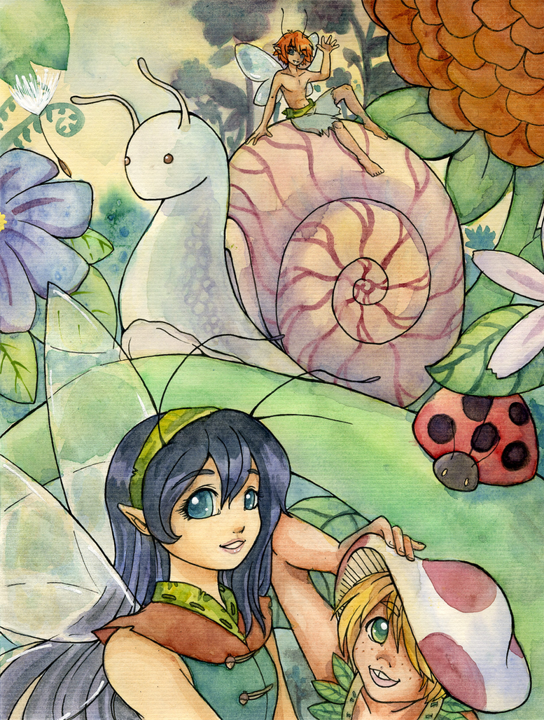 Garden Fairies by kuro-rakuen