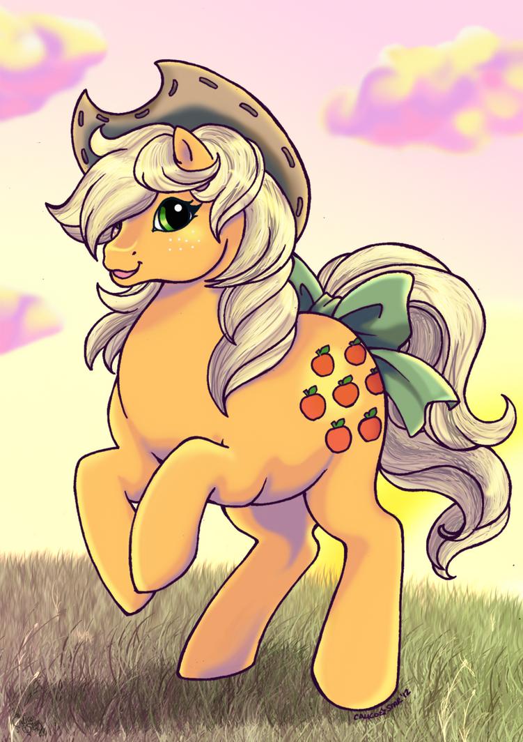 Cowgirl Applejack by kuro-rakuen