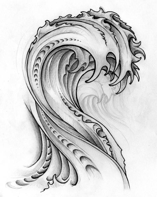 Koi Wave by Rickisonfire on DeviantArtWaves Drawing Tattoo