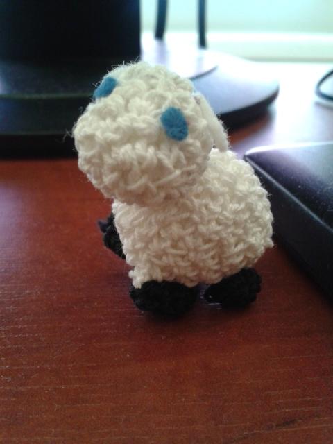 crochet sheep by Kropcia