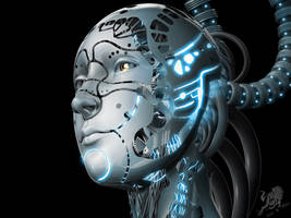female robot by RhexFiremind